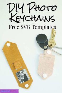 photo keychain ideas - photo keychain , photo keychain diy , photo keychain for boyfriend , photo keychain gift , photo keychain ideas Diy Leather Projects, Leather Craft, Diy Leather Gifts, Leather Diy Crafts, Diy Keychain, Keychain Ideas, Diy Leather Keychain, Keychains, Picture Keychain
