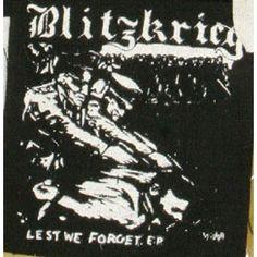 Blitzkrieg ''Lest We For'' Patch $1.45 #punk #punkpatches