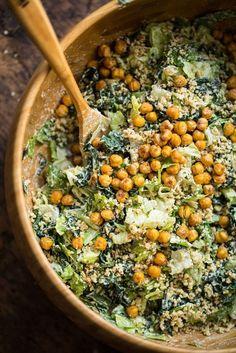 Crowd-Pleasing Vegan Ceasar Salad - Oh She Glows