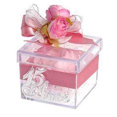 Resultado de imagem para caixinha acrilica personalizada Keepsake Boxes, Decorative Boxes, Pretty, Home Decor, Sweet 15, Rose Cake, Flowers, Decoration Home, Room Decor