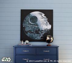Star Wars™ Death Star™ LED Artwork   Pottery Barn Kids