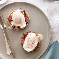 Classic hollandaise sauce is prepared with butter, egg yolks and lemon juice. Here, Neal Fraser adds a red wine–and–port reduction to the rich sau...