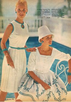 Fashion from the Sears catalogue, 1963.