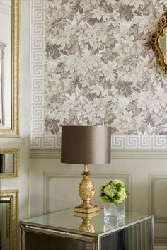 This wonderfully abundant and rich design of interwoven vine leaves by Cole & Sons was inspired by the Great Vine of Hampton Court Palace