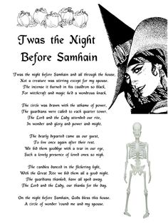 Samain: 'Twas the Night Before Samhain. Happy Halloween, Samhain Halloween, Halloween Ideas, Halloween Labels, Wicca Witchcraft, Pagan Witch, Witches, Samhain Wicca, Wiccan Art