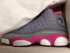 Women's Sneakers :    Air Jordan 13 Retro GS | Grey & Pink  - #Sneakers https://talkfashion.net/shoes/sneakers/womens-sneakers-air-jordan-13-retro-gs-grey-pink/