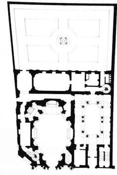 San Carlo alle Quattro Fontane (San Carlino) - plan. architect Francesco Borromini