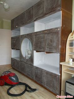 Как я перекрасила советскую стенку. Дополнила!!! Build A Closet, Furniture Makeover, Home Office, Repurposed, Diy And Crafts, Home Improvement, Household, Sweet Home, Living Room