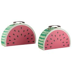 Sass & Belle Set of 2 Watermelon Suitcases @ Flamingo Gifts
