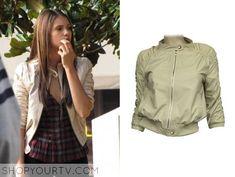 The Vampire Diaries: Season 1 Episode 2 Elena's Beige Leather Jacket