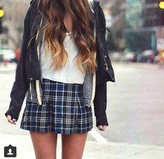 plaid skirt | brandy melville | outfit