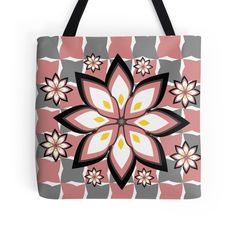20% off is awesome spelled backwards. Use code CREATIVITY. Colorful, floral #totebags #redbubble