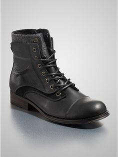 GUESS Alfie Boots, BLACK LEATHER (10 1/2)
