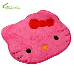 1X Cute Kawaii 51*57cm Hello Kitty Door Mat Ground Soft Shaggy Carpets of Kids Room Bedroom Design Floor Carpet 5 Colors Hot!