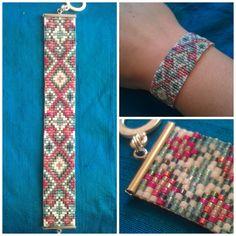 bracelet perles tissées - bead loom bracelet