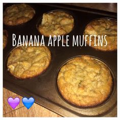 Di's Food Diary 21 Day Fix Approved Recipe= Banana Apple Muffins