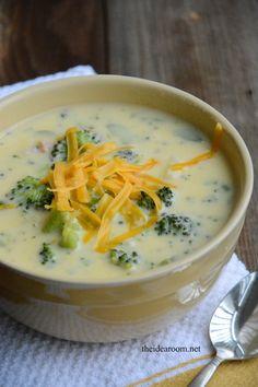 Cheddar Broccoli Soup -perfect fall recipe!
