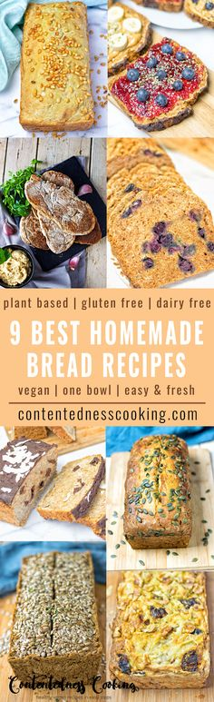 How to make fresh homemade breads has never been so easy. These 9 Best Homemade Vegan Bread Recipes show you to fill your kitchen with the aromas of freshly baked bread. Be ready for any hearty sandwich or sweet indulgence. Super versatile, and all made just with one big bowl. Hassle-free, vegan, gluten free, plant based, and simply awesome.