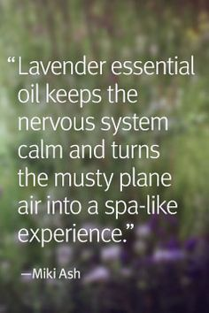 Aveda partner and yogi Miki Ash likes to bring lavender essential oil along when she travels.