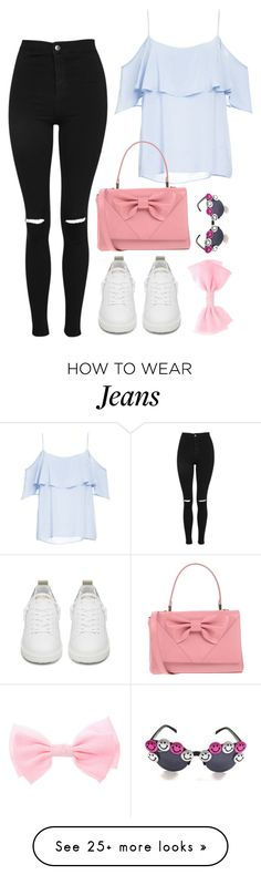 """tag set rtd"" by altrisa-mulla on Polyvore featuring Topshop, Golden Goose, BB Dakota and RED Valentino"