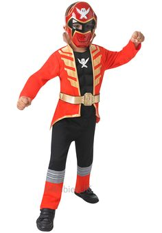 The world famous Power Rangers Super Megaforce series had some of the show's coolest costumes and they don't get any cooler than this one! Childrens Fancy Dress, Boys Fancy Dress, Costumes For Sale, Cool Costumes, Gold Collar, Black Trousers, Power Rangers, Motorcycle Jacket, Superhero
