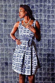"Robe en tissu africain ""Grace"""