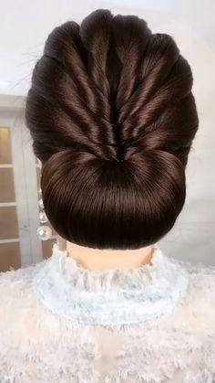 Hairstyles For Medium Length Hair Tutorial, Bun Hairstyles For Long Hair, Braids For Long Hair, Girl Hairstyles, Braided Hairstyles, Wedding Hairstyles, Saree Hairstyles, Hairstyles Videos, Trendy Hairstyles