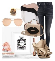 """Untitled #891"" by tattooedmum on Polyvore featuring Chanel, Citizens of Humanity, N°21, Emilio Pucci and Linda Farrow"