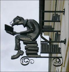 A bookshop sign.