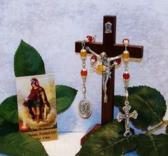 Unbreakable Relic Chaplet of St. Florian of Lorch - Patron Saint of Firefighters by foodforthesoul on Etsy