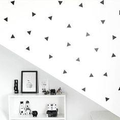 Driehoekje muurstickers