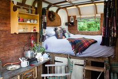 This Bedford TK horse lorry has been converted with love and care by Sam and Leon Coates of Waypost Farm Glamping.
