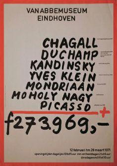 Плакат выставки «Выборка МаринусаБузема из коллекции музея Ван Аббе». 1971