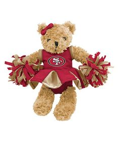 Look what I found on #zulily! San Francisco 49ers Cheerleader Bear Plush Toy by Hunter #zulilyfinds