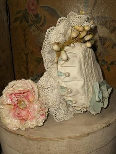 ~~~ Beautiful French Hand Embroidery Bebe Costume with Bonnet ~~~ from whendreamscometrue on Ruby Lane