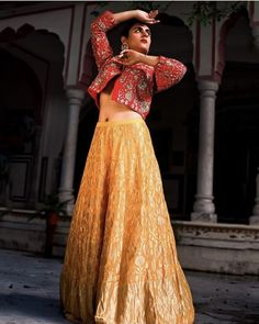 yellow and red color lehenga for haldi funtion. #lehenga #lehengacholi #lehengas #lehengalove #lehengasaree #lehengawedding #lehengainspiration #lehengablouse #lehengagoals #lehengadesigns #lehengasarees #weddinglehenga #lehengastyle #lehengacollection #redlehenga #bridallehenga #bluelehenga #lehengacholis #lehengacholionline #lehengablousedesigns #designerlehenga #lehengasuit #lehengaindia #lehengamalaysia #lehengamurah #indianlehenga #lehengadelhi #lehengasalwarsuit #lehengasmumbai… Yellow Lehenga, Online Shopping Websites, Red Color, Lace Skirt, India, Skirts, Women, Fashion, Moda