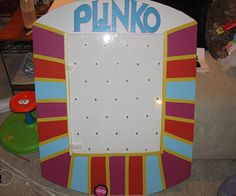 Make a Plinko prize board!  Thank GOD -- because skinny Drew Carey is too scary to fulfill my Plinko dreams!
