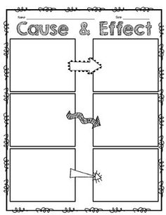 Blank Cause And Effect Chart