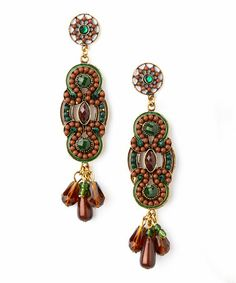 Love this Brown & Green Connelley Earrings on #zulily! #zulilyfinds