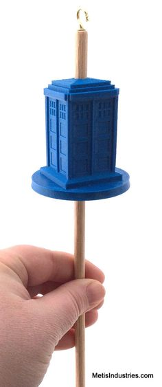 Drop Spindle 3D Printed TARDIS Top Whorl by Proserpia on Etsy