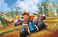 How do you get all the characters in Crash Team Racing? - Which characters are in Crash Team Racing Nitro-Fueled? Crash Bandicoot, Crash Team Racing, Kart Racing, Playstation, New Game Characters, Racing Wallpaper, Legos, Nintendo Switch, Technology News