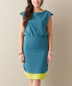 Look what I found on #zulily! Teal An Evening Date Dress - Women by Matilda Jane Clothing #zulilyfinds