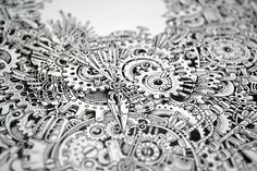 Strikingly Detailed Steampunk Owl Illustration By Doodle Artist Kerby Rosanes sketchy-stories-doodle-art-kerby-rosanes-6