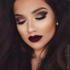 Dark smoky make up for dark/brown skin  #style #beauty #makeupforbrowneyes