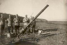 BU-F-01073-1-08753 Tun cu aer comprimat capturat la Caşin, 1917 (niv.Document) Wwi, First World, Troops, World War, Tanks