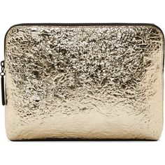 3.1 Phillip Lim Silver Foil Minute Cosmetic Pouch found on Polyvore