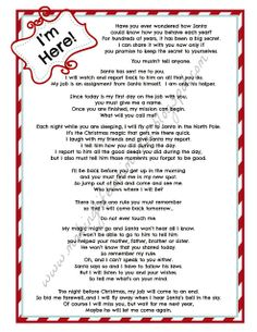 Naughty Warning Letter From Santa Pdf Elf By Thecrazychristmaself
