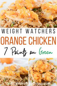 This WW Orange chicken recipe is perfect for myWW Weight Watchers Green Plan or any healthy lifestyle. This Orange Chicken recipe is easy and packed with flavor. You don't have to eat bland boring food to be healthy! Ww Orange Chicken Recipe, Weight Watchers Orange Chicken Recipe, Can Chicken Recipes, Weight Watchers Chicken, Ww Recipes, Light Recipes, Clean Recipes, Easy Dinner Recipes, Cooking Recipes