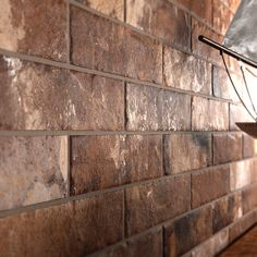 Castle Brick Red Series Porcelain Tile from Arizona Tile Brick Fireplace, Brick Wall, Rustic Design, Modern Design, Brick Look Tile, Red Bricks, Decorative Tile, Exposed Brick, Tile Patterns