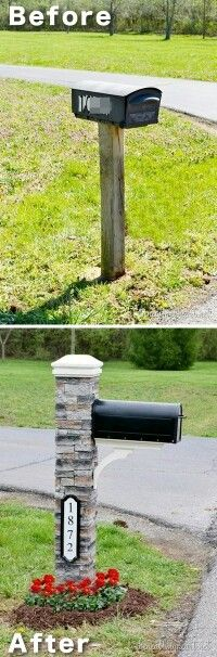 I wish we had a mailbox in our yard...